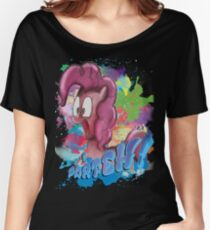 Pinkie Pie SPLAT PARTEH! Women's Relaxed Fit T-Shirt