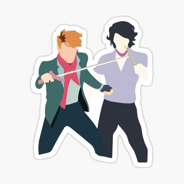 Simon and Baz Sticker