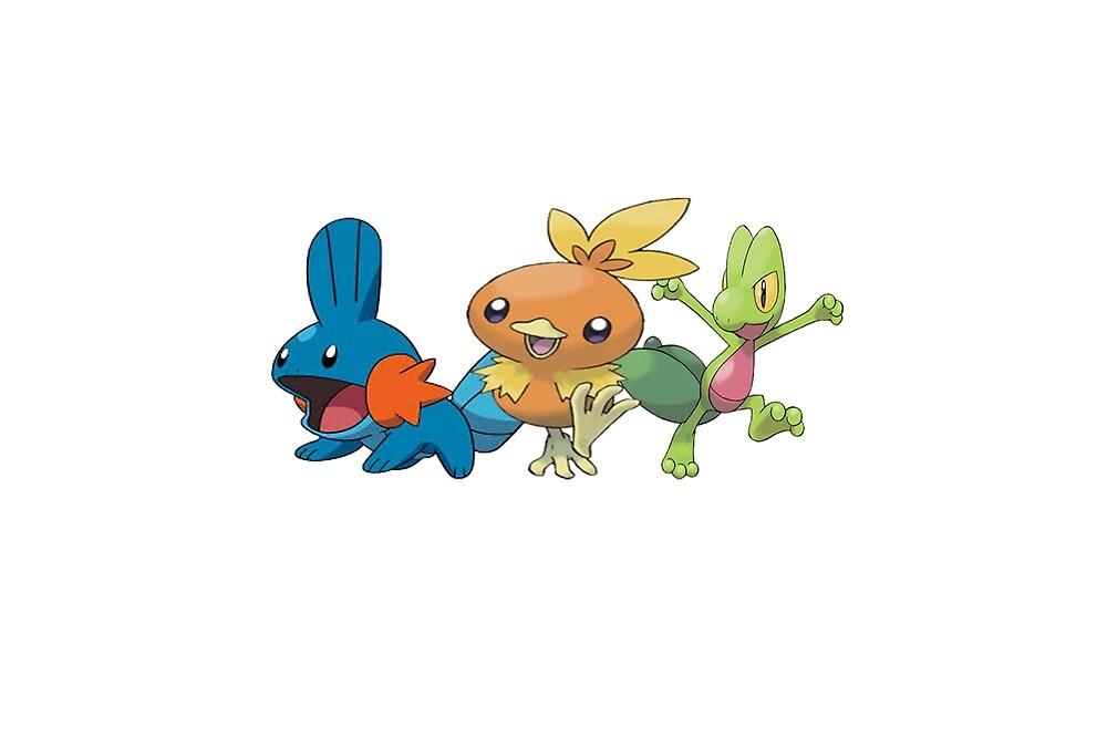Pokemon - starter 3st gen by Xkaido
