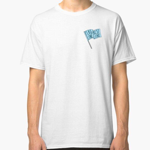 Flag Line, Best Line - Blue Classic T-Shirt