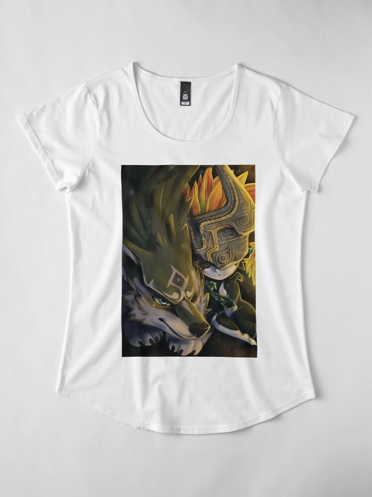 Vista alternativa de Camiseta premium de cuello ancho Siesta Crepúsculo