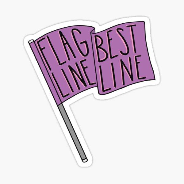 Flag Line, Best Line - pink Sticker