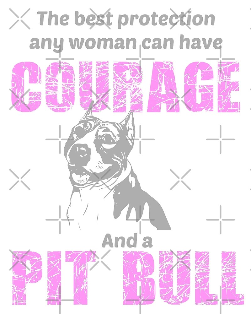 Courage and a Pit bull by mclaurin612