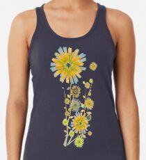 Orange sunflowers pattern Women's Tank Top