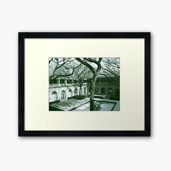 Chicago Art Institute Courtyard Framed Art Print