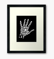 Need a hand? (white) Framed Print