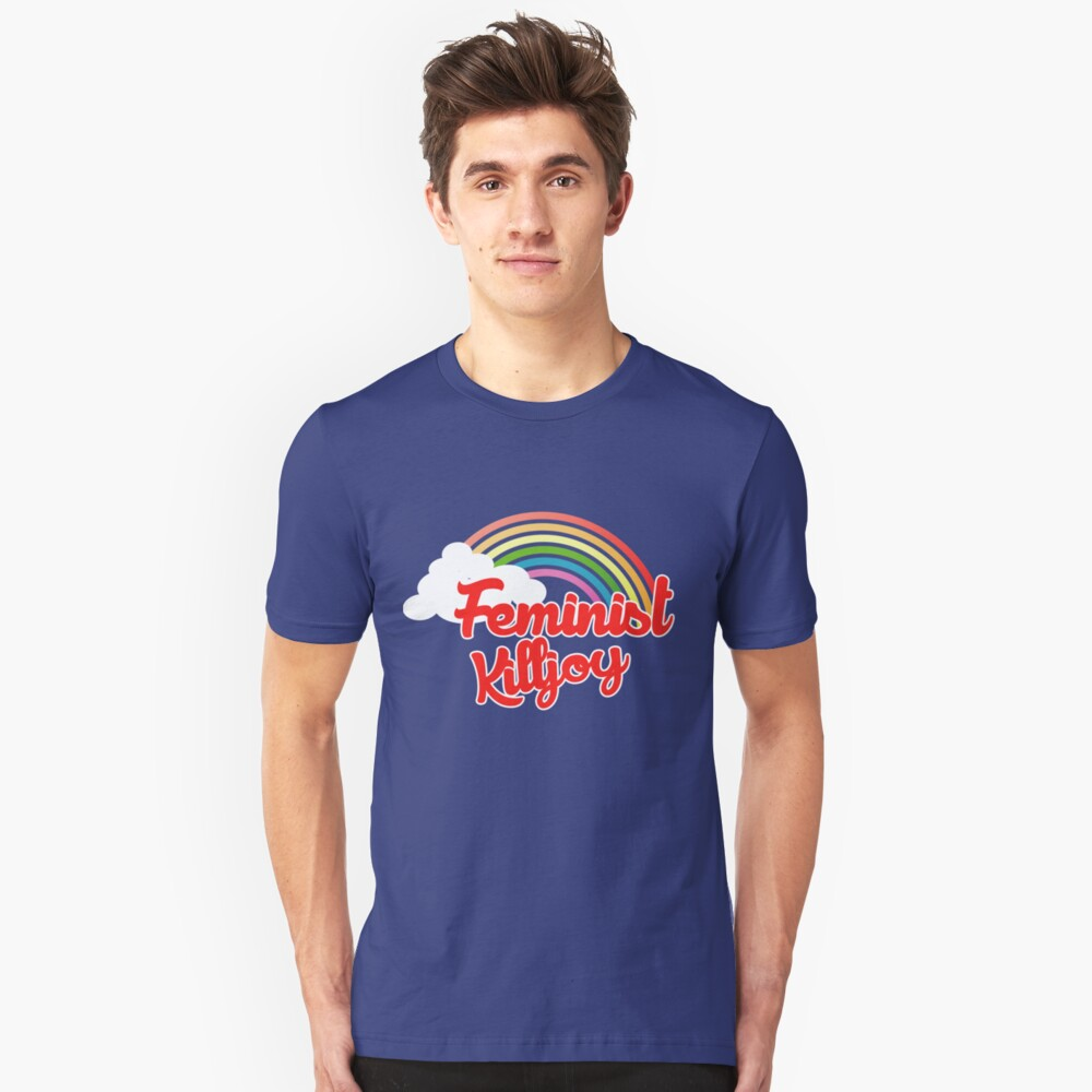 Feminist killjoy retro rainbow Unisex T-Shirt Front