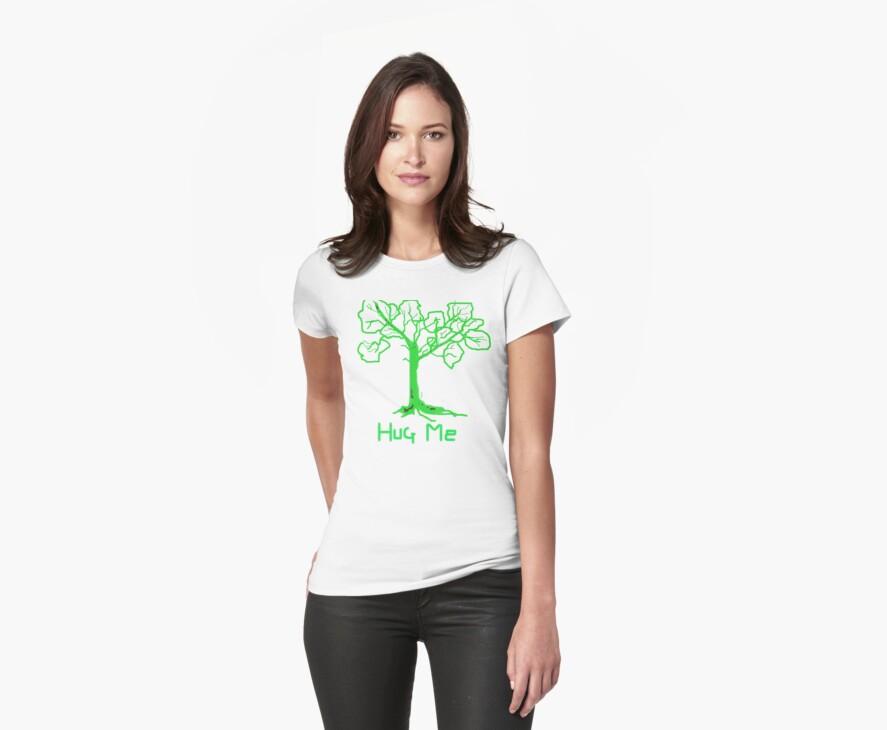 HUG ME   TREES Leaves Green T SHIRT by Shoshonan