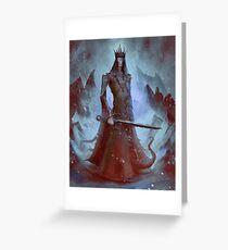 Lich King White Walker Ringwraith Greeting Card