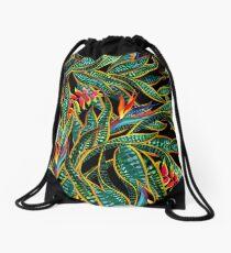 dark cactus party Drawstring Bag