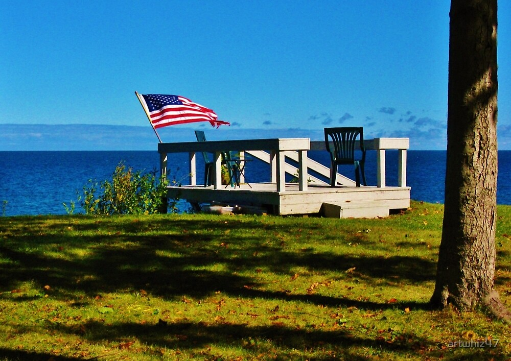 A Grand Old Flag On A Great Old Lake by artwhiz47