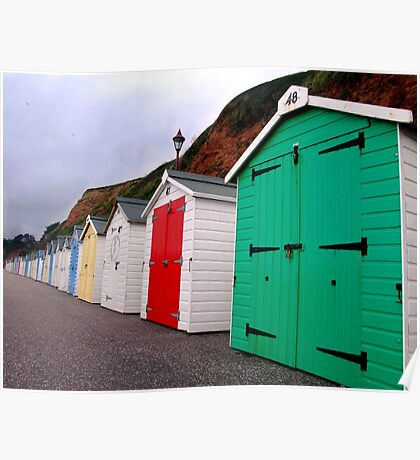 Beach Huts - Seaton Poster