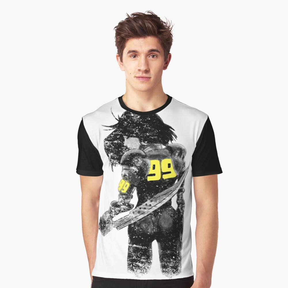 Copy of Manga Angel watercolor distressed in black and white Graphic T-Shirt