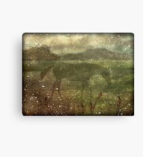 Flora and Fauna Dreamy Collage Canvas Print
