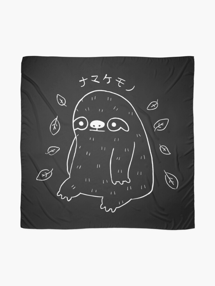 Alternate view of Monochrome Sloth - Simple Art Scarf