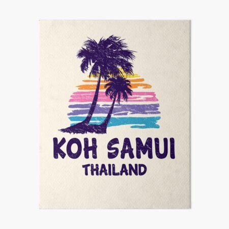 Koh Samui, Thailand - Tropical Beach Island Art Board Print