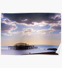 Wreck of the West Pier Poster