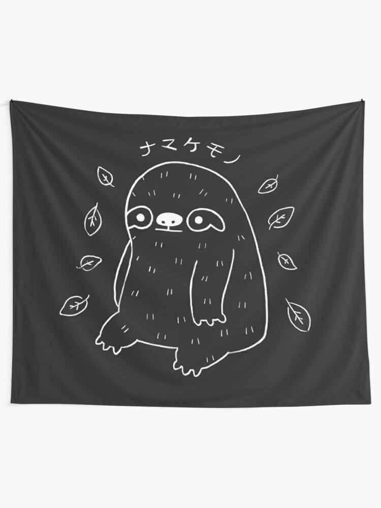 Alternate view of Monochrome Sloth - Simple Art v2.0 Tapestry