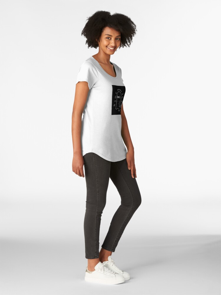 Alternate view of Monochrome Sloth - Simple Art v2.0 Premium Scoop T-Shirt