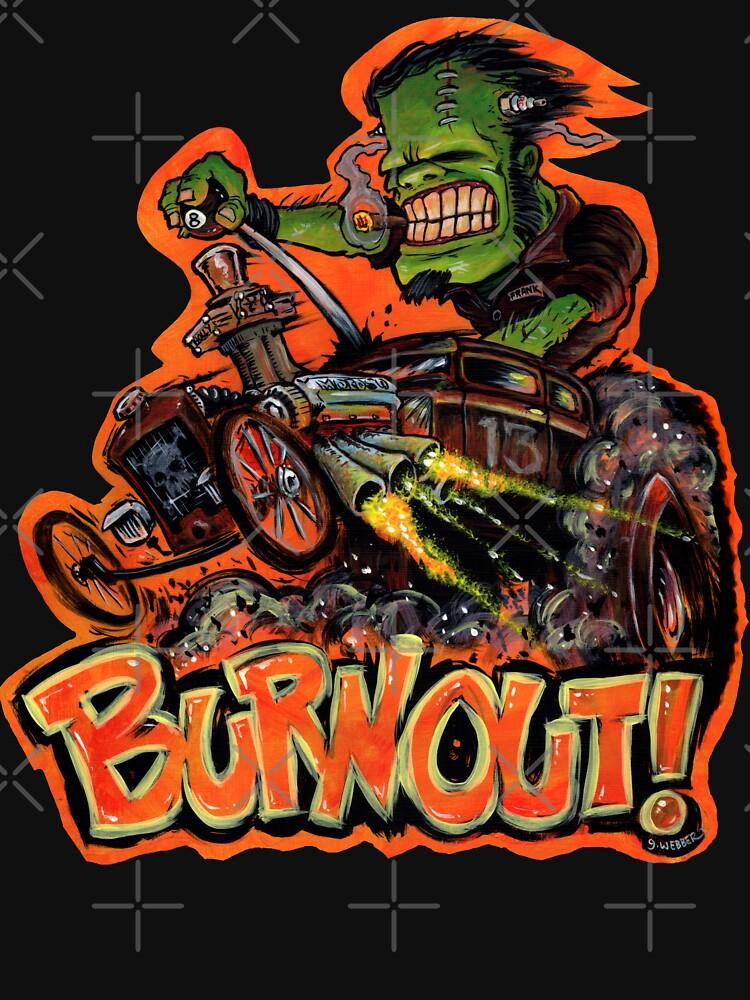 BURNOUT Hot Rod Monster Art by gWebberArts