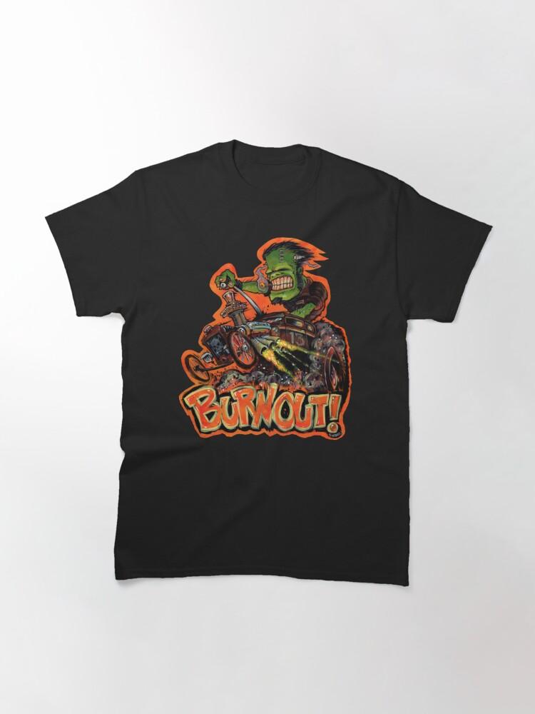 Alternate view of BURNOUT Hot Rod Monster Art Classic T-Shirt