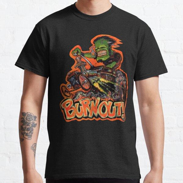 BURNOUT Hot Rod Monster Art Classic T-Shirt