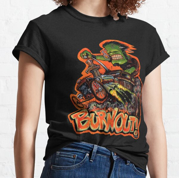 BURNOUT Hot Rod Monster Art Classic T-Shirt