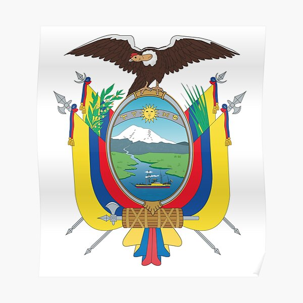 Ecuador Coat of Arms Poster