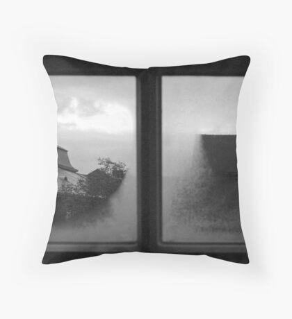 Through an abbey window Throw Pillow