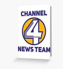 Anchorman - Channel 4 News Team Greeting Card