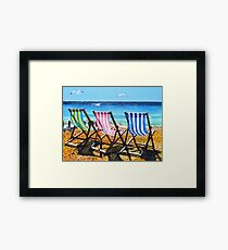 High tide and Heatwave Framed Print