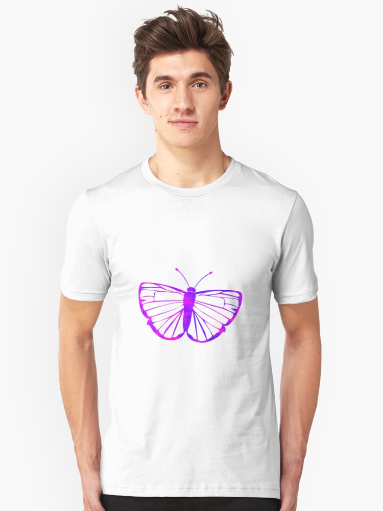 Pink & Purple Butterfly Unisex T-Shirt Front