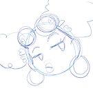 Blue Glare Sketch by jhennetylerb