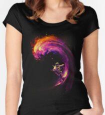 Camiseta entallada de cuello ancho Navegación espacial