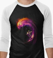 Space Surfing Baseball ¾ Sleeve T-Shirt
