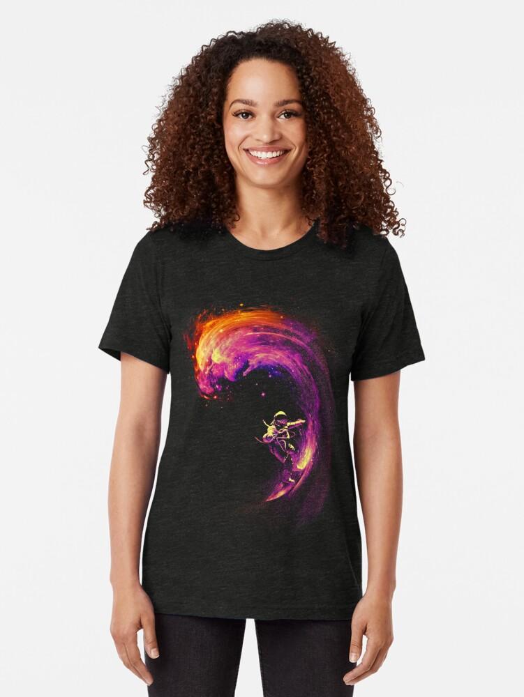 Vista alternativa de Camiseta de tejido mixto Navegación espacial