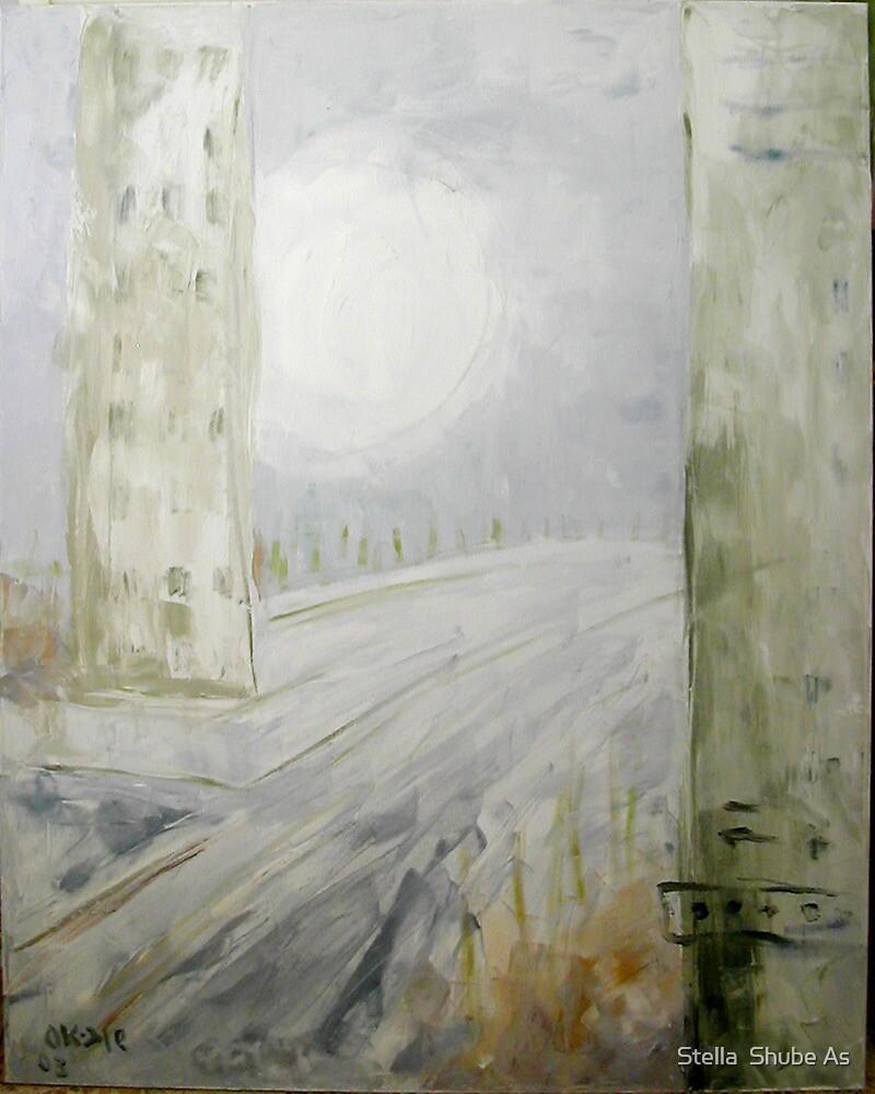 Sun in Winter mist by Stella  Shube As