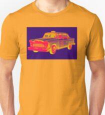 Checkered Taxi Cab Pop Art Unisex T-Shirt