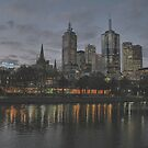 Melbourne at Twilight by Andrew  Makowiecki