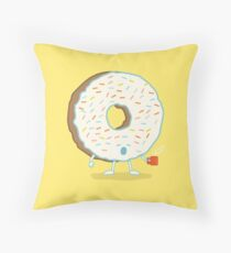 The Sleepy Donut Throw Pillow