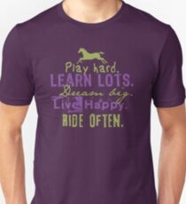 Ride Horses Often Unisex T-Shirt
