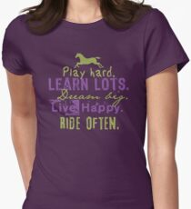 Ride Horses Often Women's Fitted T-Shirt