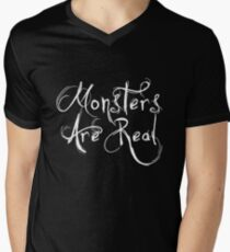 Monsters Are Real Mens V-Neck T-Shirt