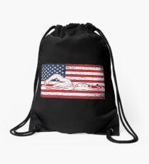 Schwimmen-Athleten-Schwimmen-Team USA Flag Distressed Swimmers Gift Turnbeutel