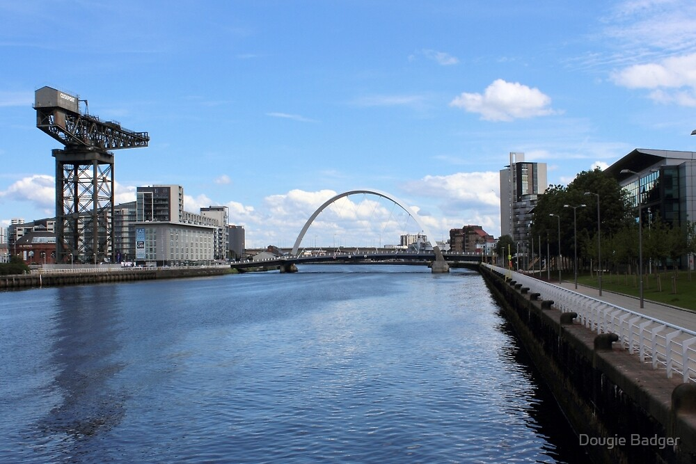 """The Clyde Arc """"The Squinty Bridge""""  by Dougie Badger"""