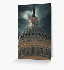 Capital Night Greeting Card