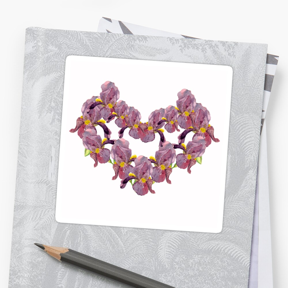 floral pattern with iris watercolor. by Ego13