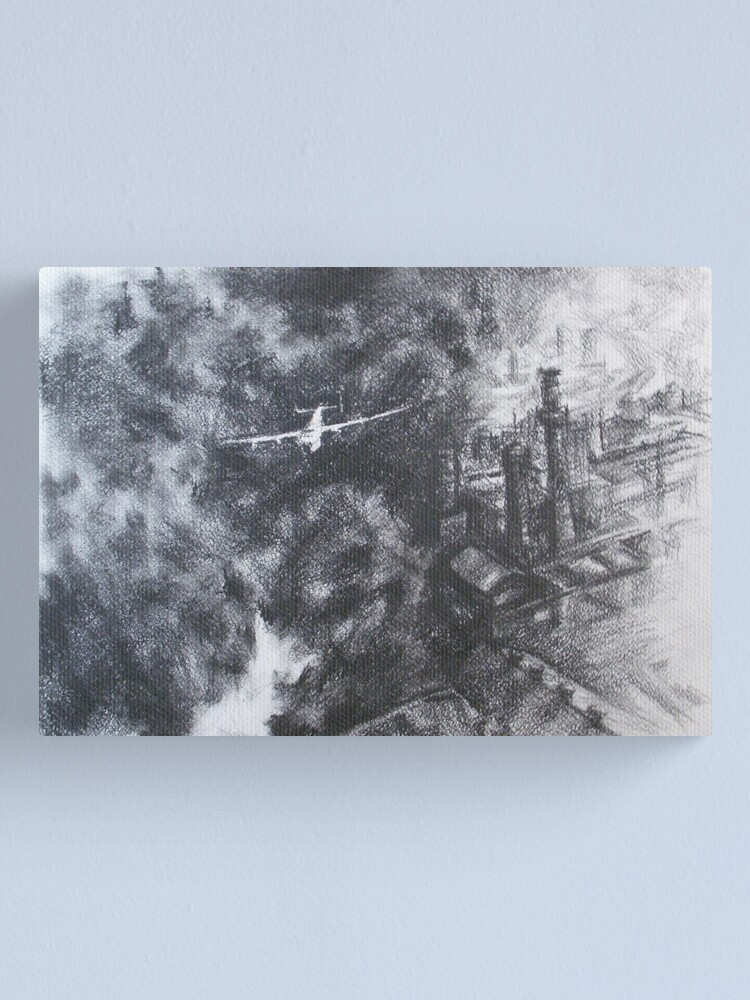 Alternate view of In smoke Canvas Print