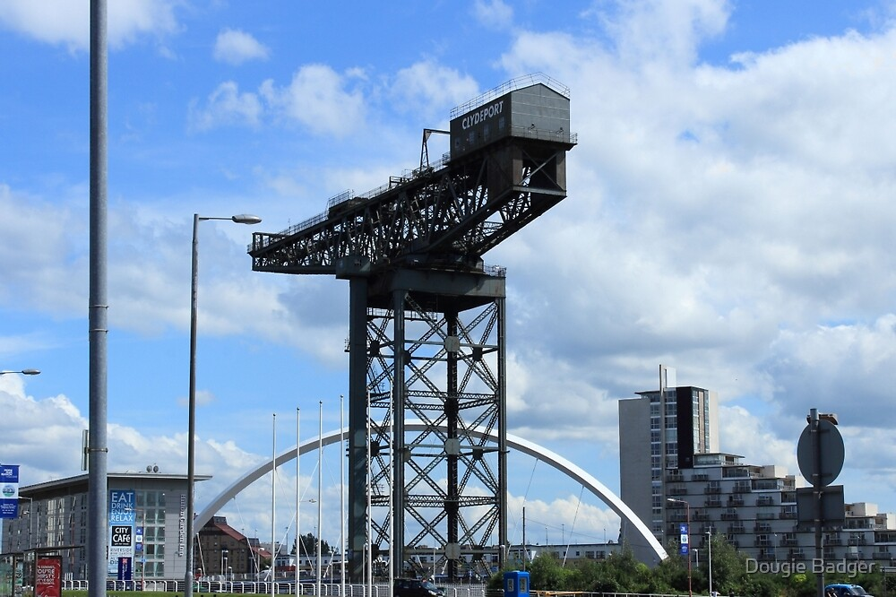 """Finnieston Crane  & The Clyde Arc """"The Squinty Bridge""""  by Dougie Badger"""