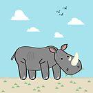 Un Rhinocéros by Dave Sliozis